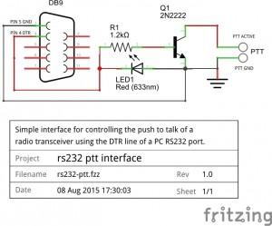 RS232 PTT Schematic